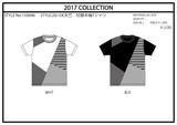 【2017春夏新作】天竺 半袖 パネル切替Tシャツ(斜め ボーダー)