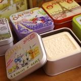 【LA SAVONNERIE 】オーガニックシアバター&オリーブオイル使用 アンティーク缶入りソープ
