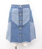 【予約販売】(3月納品)10oz切り替えデニム台形スカート