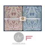 【 昭和西川】箱入りギフト 抗菌防臭加工!羽毛肌掛け布団2枚セット ダウン93% フェザー7% 日本製