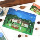 クリアファイル ねこ「森のお茶会」