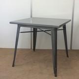 カフェテーブル/ダイニングテーブル/メタルテーブル/Aチェア【送料無料:直送可】