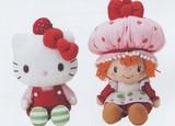 【キティ】ぬいぐるみ・タオル(ストロベリーショートケーキ)