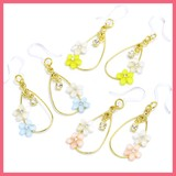 Gift Show Flower Bijou 2 Pcs Frame Resin Pierced Earring
