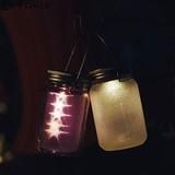 【5色】ソーラー充電式ライト Glass Jar -ガラスジャー-