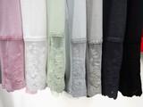春色!【人気商品】ボトルネック・ハイネック 2WAY 袖レース Tシャツ