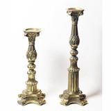 立体彫刻/豪華装飾◆アンティーク調【-大型キャンドルスタンド-燭台】つや消し/金/ゴールド