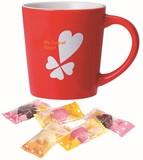 バレンタインマグカップ(ハートチョコ5粒入) 2色取り混ぜ 41-57