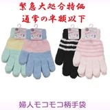 【通常の半額以下☆冬売れ筋】婦人 モコモコ 柄 手袋