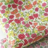 【生地】【布】【コットン】Flower spring - orange デザインファブリック