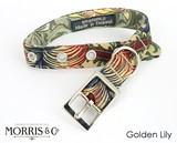 首輪 ハーネス Golden Lily -William Morris - ドッグ 犬 イギリスブランド BlossomCo ブロッサム