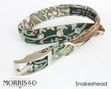 首輪 ハーネス Snakeshead -William Morris - ドッグ 犬 イギリスブランド BlossomCo ブロッサム
