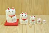 【ギフト】【インテリア雑貨】 <張り子> はりこーシカ 招き猫【白/柄】