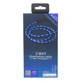 2WAY illumination cable ブルー