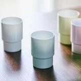 【4色】<日本製>Glass Cup egg shell -エッグシェル-