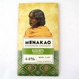 メナカオ ミルクチョコレート44% ヘーゼルナッツ 65G
