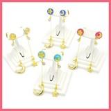 Clear Ball Space Motif Pierced Earring
