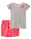 【2017年春夏】carter's カーターズ ストライプTシャツ×スカートセット