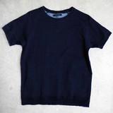 【予約販売】(4月納品)【2017春夏新作】ヴィンテージ風デニム半袖Tシャツ M-1701855<日本製>