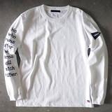 【予約販売】(4月納品)【2017春夏新作】袖ロゴ長袖Tシャツ M-1701156<日本製>