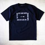 【予約販売】(4月納品)【2017春夏新作】英字アロープリント半袖Tシャツ M-1701161<日本製>