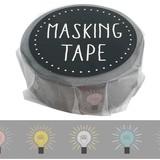 Skin Tape Light Bulb Album Notebook Washi Tape