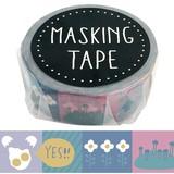 Skin Tape Grayish Pop Album Notebook Washi Tape