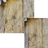 7cm輪っかメタルチェーンネックレス・チョーカー