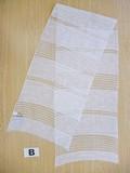 SALE【春夏新作】ホワイト清涼,透ける4種のシルク混織デザインスカーフ♪FL−615