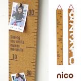 【即納可能】【2017春夏新作】nico kids コルク身長計【キッズ】【ギフト】
