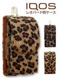 レオパード柄アイコスケース 大人な高級ハラコ風素材 オシャレの定番ヒョウ柄 カラビナフック付き