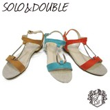 S/S Ring Attached Flat Sandal SOLO&DOUBLE