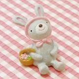 お花見ハッピーノーティー ウサギ (桜ガーデンマスコット/ガーデニング/ノーティーアニマル)