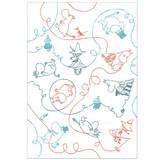 【ムーミン】A5綴じノート(ロープ)★キャラクターパターンデザイン★[169996]