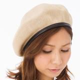 帽子 春夏 サーモベレー帽 パイピング サイズ調整 無地 ファッション レディース 通気性