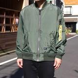 【2017春夏新作】ワッシャーナイロンMA-1ジャケット