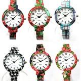 カラフルな柄が可愛いファッションバングルウォッチ レディース腕時計