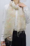 【全3色】ガーゼ調のコットンに刺子調★バード刺子風プリントストール★IN-9981S