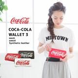 【当社生産 国内ライセンス】コカ・コ−ラ 長財布 ウォレット スウェット 合成皮革 メッシュ