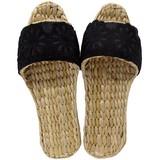 【Summer slippers】デニム×お花レースガマスリッパ