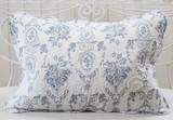Cotton Quilt Pillow Cover Blue Series
