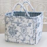 Cotton Quilt Basket Blue Series