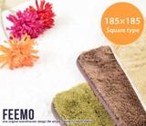 【直送可】Feemo 185×185cm Square type ラグ【送料無料】