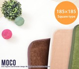 【直送可】Moco 185×185cm Square type ラグ【送料無料】