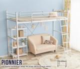 【直送可】【シングル】Pionnier ロフトパイプベッド【送料無料】