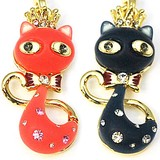Glitter Crown Cat Strap Accessory Charm