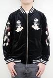 【PANDIESTA JAPAN】 昇龍×熊猫 豪華刺繍 べロアジャージ