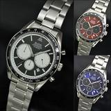 エルジン(ELGIN) クロノグラフ腕時計 男性用 FK1401S-B/FK1401S-BL/FK1401S-R