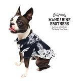 ALOHA SHIRTS アロハシャツ (ネイビー) 犬 服 ドッグウェア