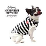 ボーダーパーカー2 ブラックホワイト 犬 服 ドッグウェア